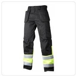 HI-VIS bikses ar kabatām