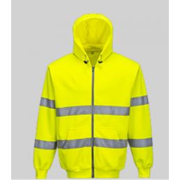 HI-VIS hoodie with zipper