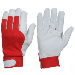 Winter leather gloves with...